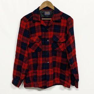 Pendleton | Red Tartan Plaid Wool Board Shirt M